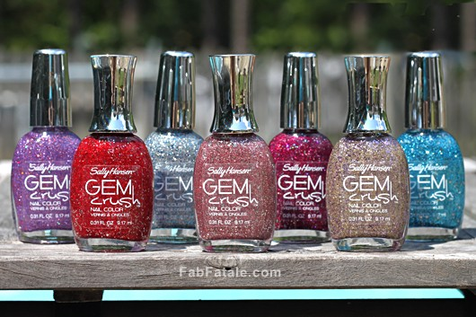 Sally Hansen Gem Crush Swatches Glitter Nail Polish Review
