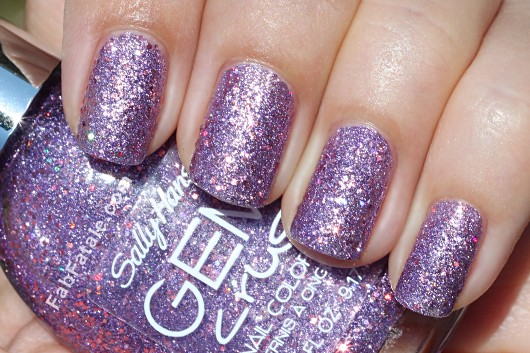 Sally Hansen Gem Crush Swatches - Be-jeweled Purple Pink Glitter Nail Polish