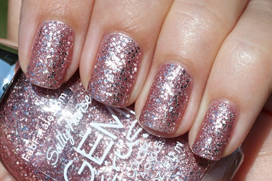 Sally Hansen Gem Crush Swatches - Razzle Dazzler Pink Silver Glitter Nail Polish