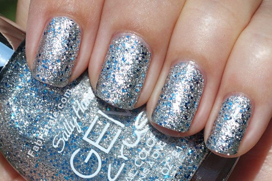 Sally Hansen Gem Crush Swatches - Showgirl Chic Silver Blue Glitter Nail Polish