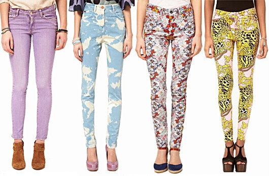 Denim Top Floral Jeans Trends Spring Summer 2012
