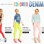 How To Wear: Colored Denim by Ideeli