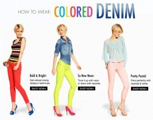 How To Wear Colored Demin Sale