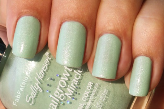 Sally Hansen Gentle Blossom Mint Shimmer Green Nail Polish