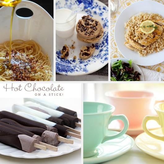 Spaghetti Aglio Peperoncino Recipe Chocolate Chip Cookies Spring Dinner Hot Chocolate Popsicle Pastel Tea Cups