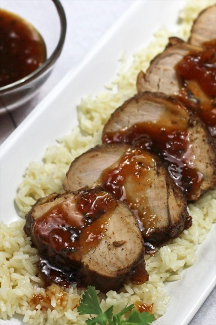 Apricot Ginger Barbeque Chili Pork Tenderloin Recipe