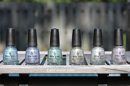 China Glaze Prismatic Collection Swatches Glitter Nail Polish