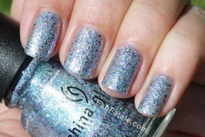 China Glaze Prismatic Collection Swatches Glitter Nail Polish Liquid Crystal