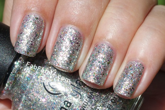 China Glaze Prismatic Collection Swatches Glitter Nail Polish Ray-Diant
