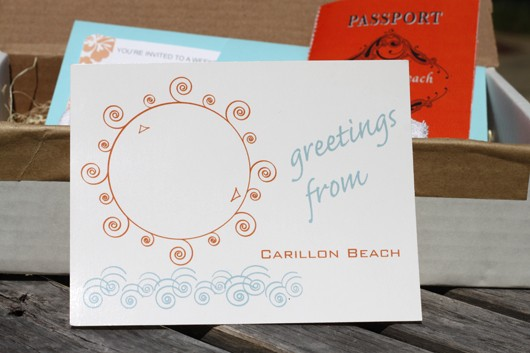 DIY RSVP Postcard - Beach Wedding