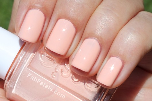 Essie Navigate Her Spring 2012 Swatches A Crewed Interest Pink Peach Creme Nail Polish