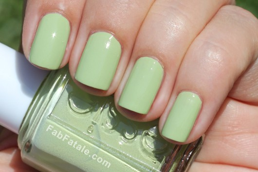 Essie Navigate Her Spring 2012 Swatches Light Green Creme Nail Polish