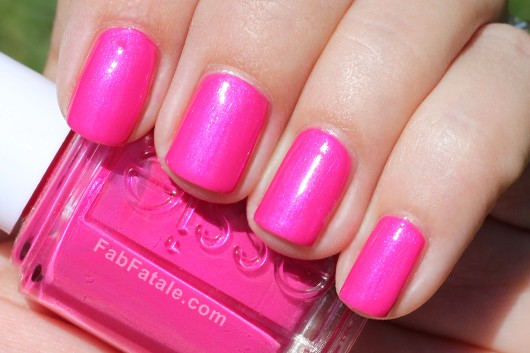 Essie Navigate Her Spring 2012 Swatches Tour De Finance Bright Pink Shimmer Nail Polish