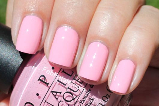 Nicki Minaj OPI Collection Swatches Pink Friday Cream Nail Polish