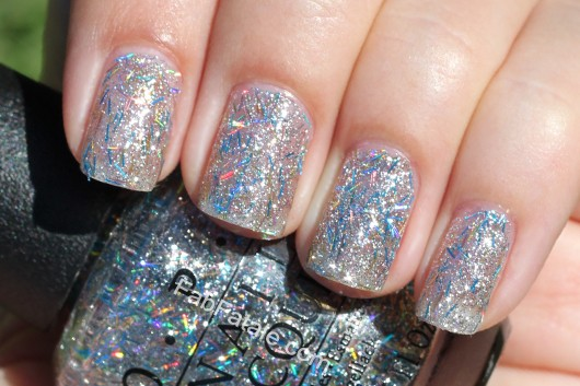 Nicki Minaj Opi Collection Swatches Save Me Blue Bar Glitter Nail Polish
