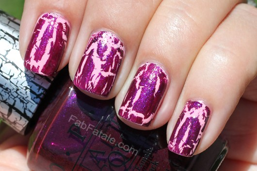 Nicki Minaj OPI Collection Swatches Super Bass Shatter Purple Glitter Nail Polish