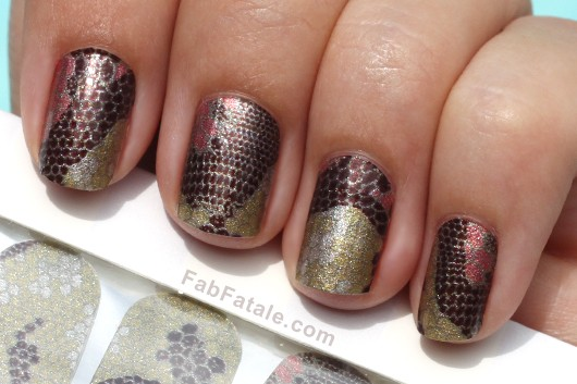 OPI Pure Lacquer Nail Appliques Press On Nail Strips Reptile