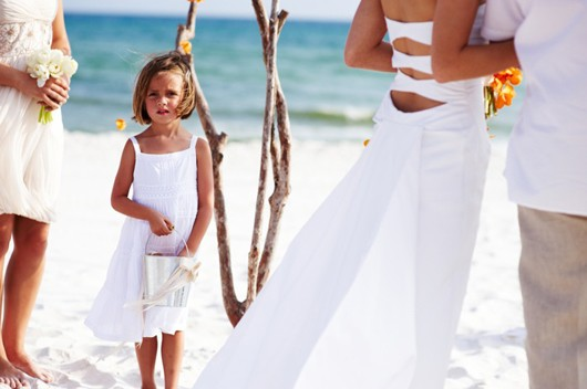 Beach Wedding Flower Girl Pail