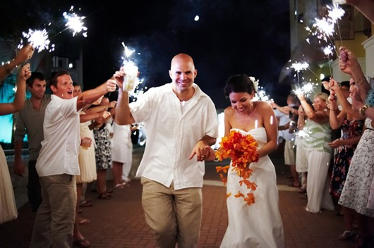Beach Wedding Sparklers