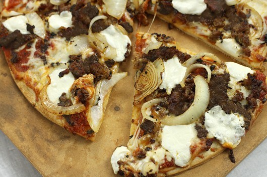 Italian Sausage Goat Cheese Onion Sundried Tomato Pizza Recipe
