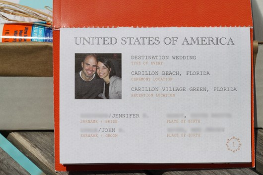 DIY Passport Invitations - Beach Wedding
