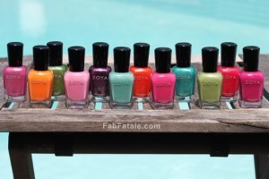 Zoya Beach Surf Swatches
