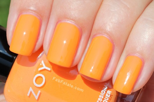 Zoya Beach Surf Swatches Arizona Orange Cream Nail Polish