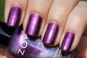 Zoya Beach Surf Swatches Carly Purple Shimmer Nail Polish