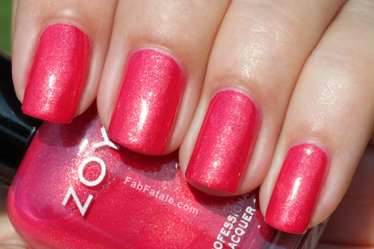 Zoya Beach Surf Swatches Kimber Red Shimmer Nail Polish