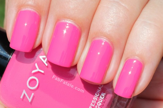 Zoya Beach Surf Swatches Lara Pink Cream Nail Polish