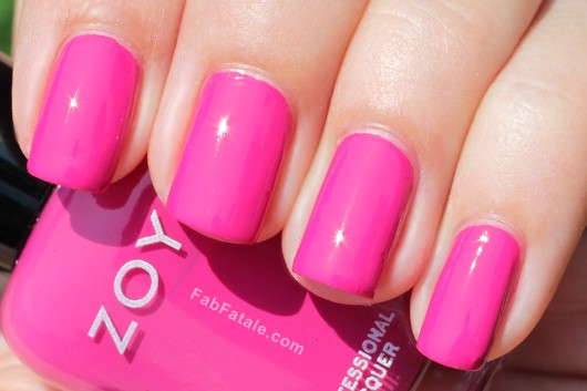 Zoya Beach Surf Swatches Reagan Pink Cream Nail Polish