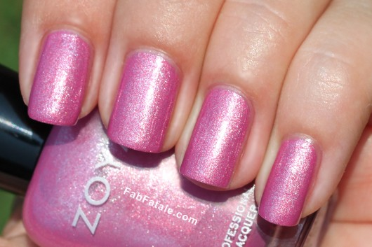 Zoya Beach Surf Swatches Rory Pink Shimmer Nail Polish