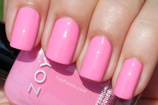 Zoya Beach Surf Swatches Shelby Medium Pink Cream Nail Polish