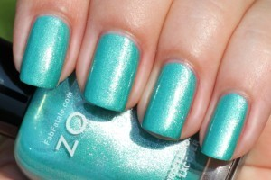 Zoya Beach Surf Swatches Zuza Aqua Foil Nail Polish