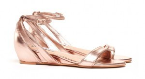 Sandra 2.0 Mini Wedge Sandal Rose Gold Metallic