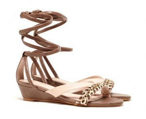 Soraya Chain Braided Ankle Wrap Wedges