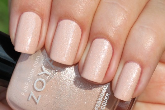 Zoya Melodie Swatch - Nude Peach Pink Shimmer Nail Polish