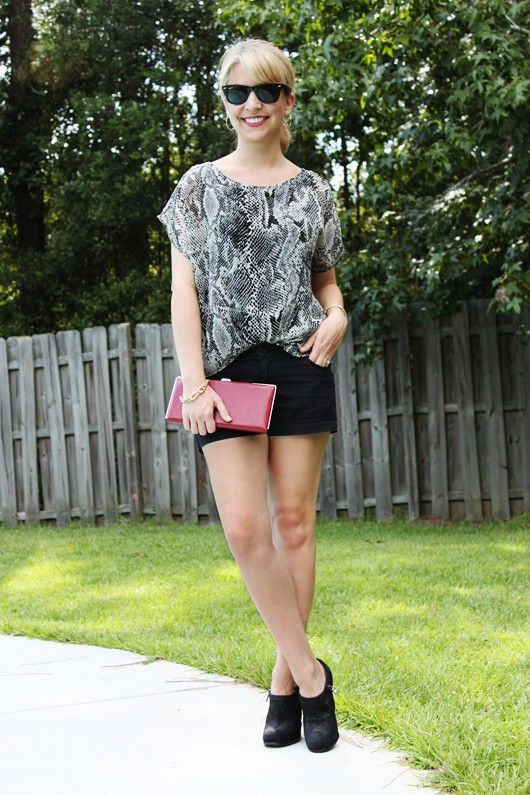 Snake Print Top