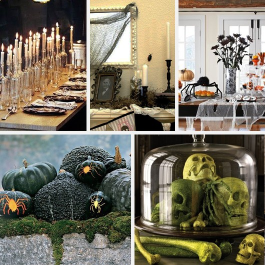 Spooky Halloween Mantle and Tablescapes