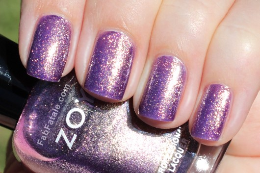 Zoya Daul Swatch - Purple Shimmer Nail Polish