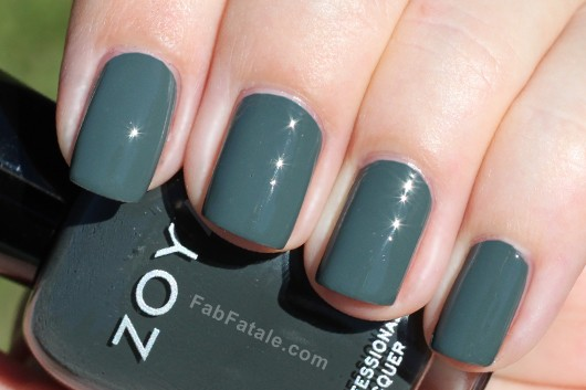 Zoya Evvie Swatch - Green Creme Nail Polish