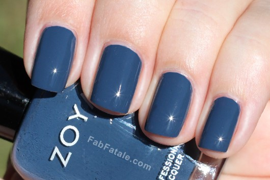 Zoya Natty Swatch - Gray Blue Creme Nail Polish