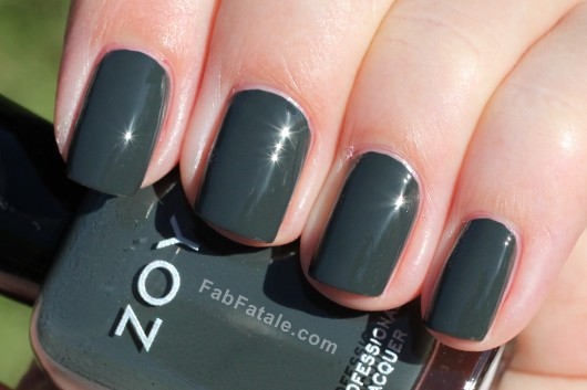 Zoya Noot Swatch - Dark Gray Nail Polish
