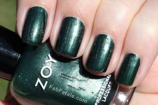 Zoya Ray Swatch - Green Shimmer Nail Polish