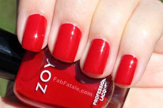 Zoya Rekha Swatch - Red Creme Nail Polish