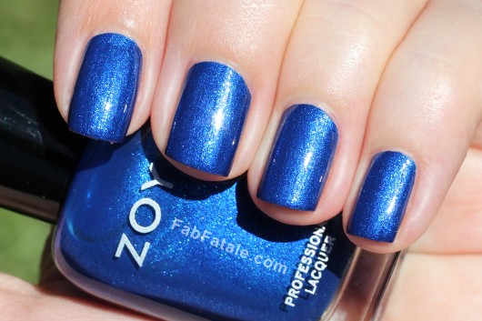 Zoya Song Swatch - Blue Shimmer Nail Polish