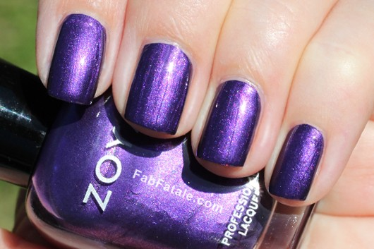 Zoya Suri Swatch - Purple Shimmer Nail Polish
