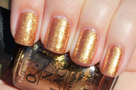 OPI Holiday 2012 Skyfall Goldeneye Swatch