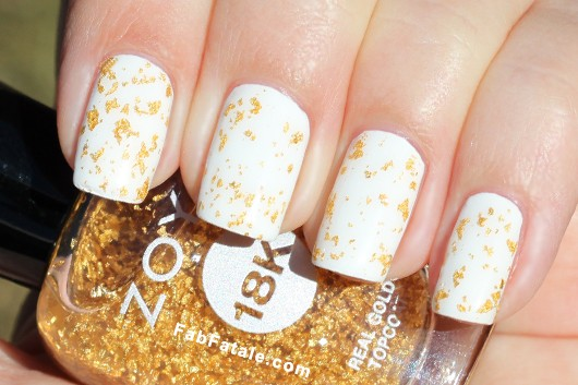 Zoya 18k Gold Flake Top Coat Swatch