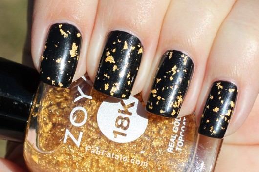 Zoya 18k Gold Gilty Pleasures Top Coat Swatch